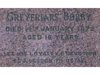 The wording on Bobby's grave.