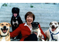 Darlene Arden with her happy pack.