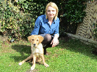 Louise Gage with her Golden Retriever, Boo.