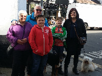 Natalie Hawkins, Richard and Linda Downs and dogs Barney and Jess were enjoying Bridgnorth.