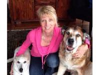 Sarah Pennington with her dogs.