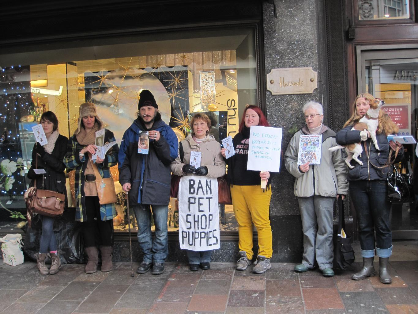 update on the protest at harrods dogcast radio