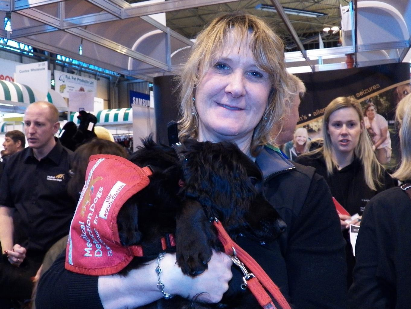 Dr Claire Guest, CEO of Medical Detection Dogs, launched a new initiative at Crufts 2013. Tags: dogs can detect cancer Dr Claire Guest Medical Detection Dogs