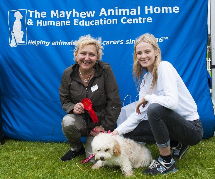 Photo Credit (Bonnie Baker) Kirstie Brittain helping to judge. Tags: Hounds on the Heath rescue dog The Mayhew Animal Home
