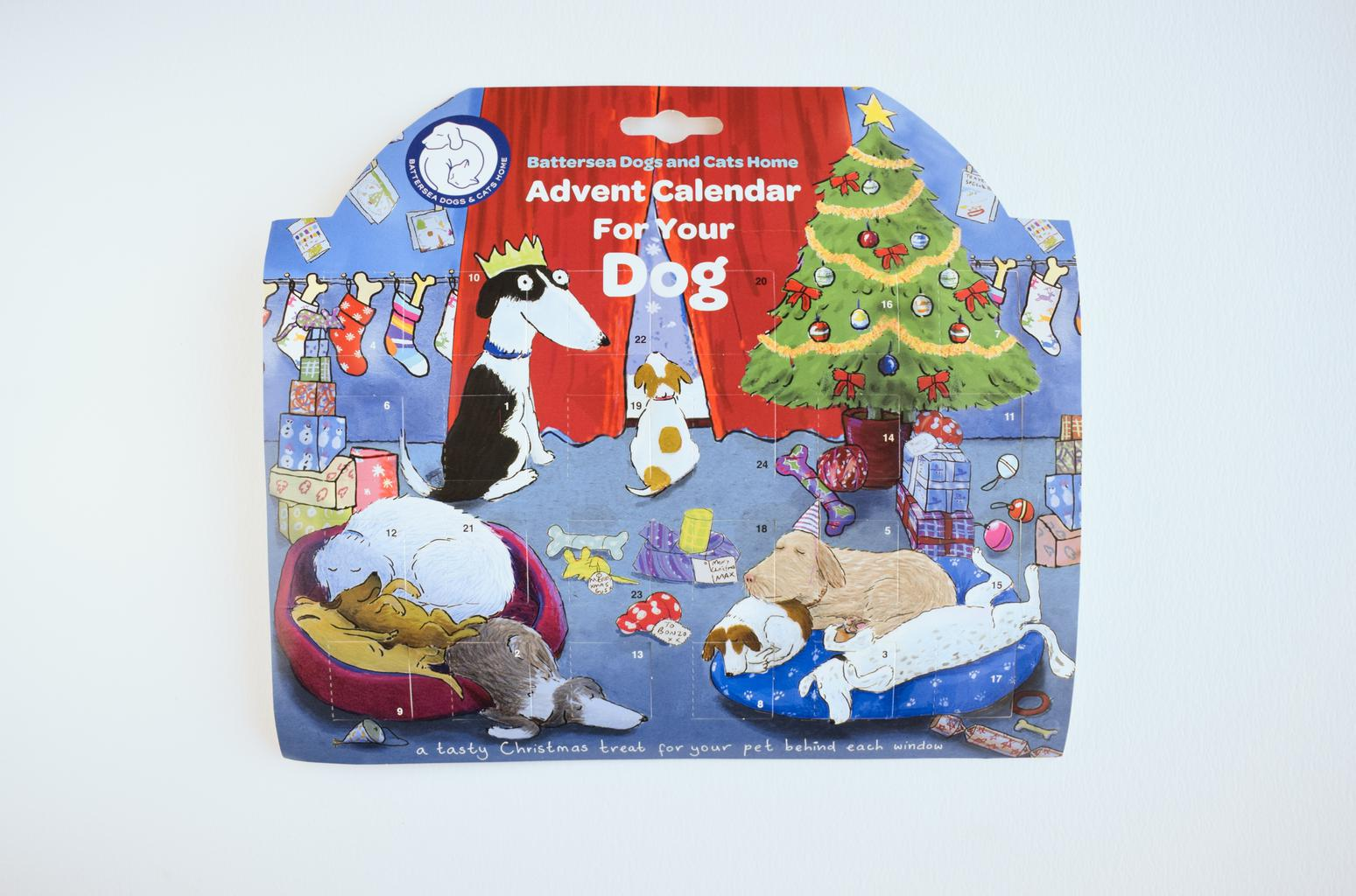 Battersea's dog advent calendar. Tags: Battersea Christmas Christmas present