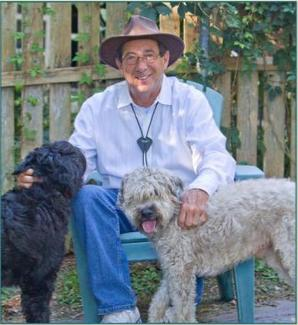 Mark Winik with his dogs Chickie and Paco. Tags: author Mark Winik The Dog Healer