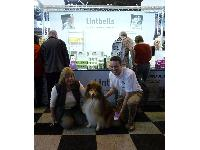 John Howie with Julie Growcott and Ted publicising Yumpro Bio Activ on the Lintbells stand.