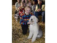 Ken Kragen on the set of The 12 Dogs of Christmas.