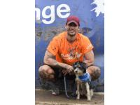 David Gandy and Dora took on the Muddy Dog Challenge to help raise money for Battersea Dogs & Cats Home.