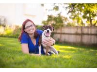 Sara Reusche and her dog Pan. Sara gives advice on how to thwart an off leash dog rushing you and your dog in Episode 183.