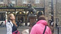 The statue commemorating Greyfriars Bobby.